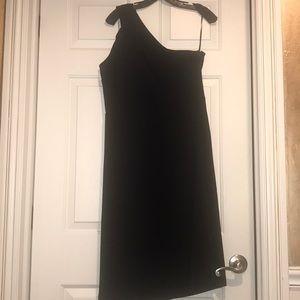 Banana republic black one shoulder dress